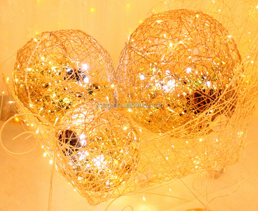 New Christmas decorative crafts natural rattan Christmas ball