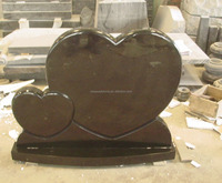 Double heart shaped headstone granite tombstone cheap price