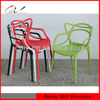 Modern plastic material stackable Dining Chair