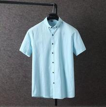 Wholesale solid color custom linen dri fit casual boys new model shirts