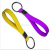 Cheap price logo wholesale printing custom promotion silicone bracelet key ring