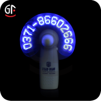 Wedding Stage Decoration Led Lighted Mini Fan with great popularity