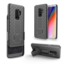 China Market Wholesale Cell Phone Case Hybrid Heavy Duty Rugged Armor Cover for Samsung S9plus/for Samsung S9 Holster Combo Case