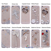 hard plastic pearl rhinestone case for iphone 6s