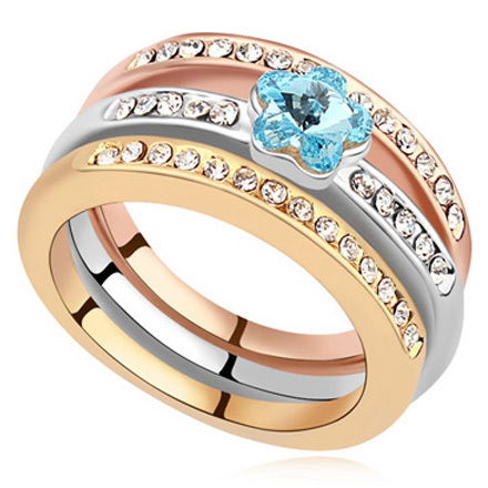 Free Shipping Cheap Fashion Ring Set Made With crystal from Swarovski Ring