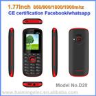Высокое рука дешевые Dual Sim Нижний Конец Мобильный Телефон 0.77 дюймов от CE сертификации whatsapp facebook пример D20