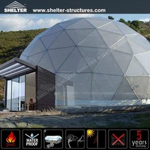 15m Luxury Outdoor Big Aluminum Fframe Event Geodesic Dome Tents for Sale