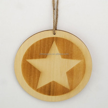 star shape wooden christmas hanging decoration 2016
