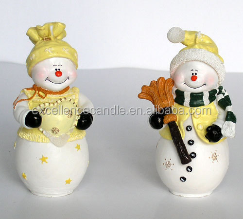 2014 very hot design christmas snowman design candles