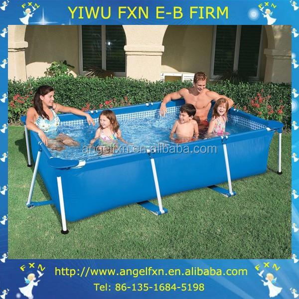 Wholesale garden rectangular above ground swimming pool buy rectangular above ground swimming for Square above ground swimming pools