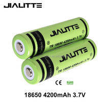 Jialitte Rechargeable li ion battery 18650 3.7v 4200mah TR 18650 battery manufacturers