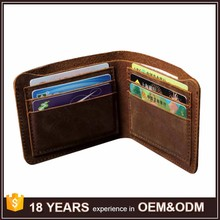 Fashion Men's Durable Genuine Leather Bifold Credit Card Wallet