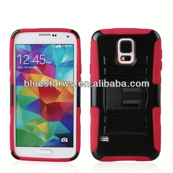 mobile phone shell 2014 factory directly stylish galaxy s5 phone combo case