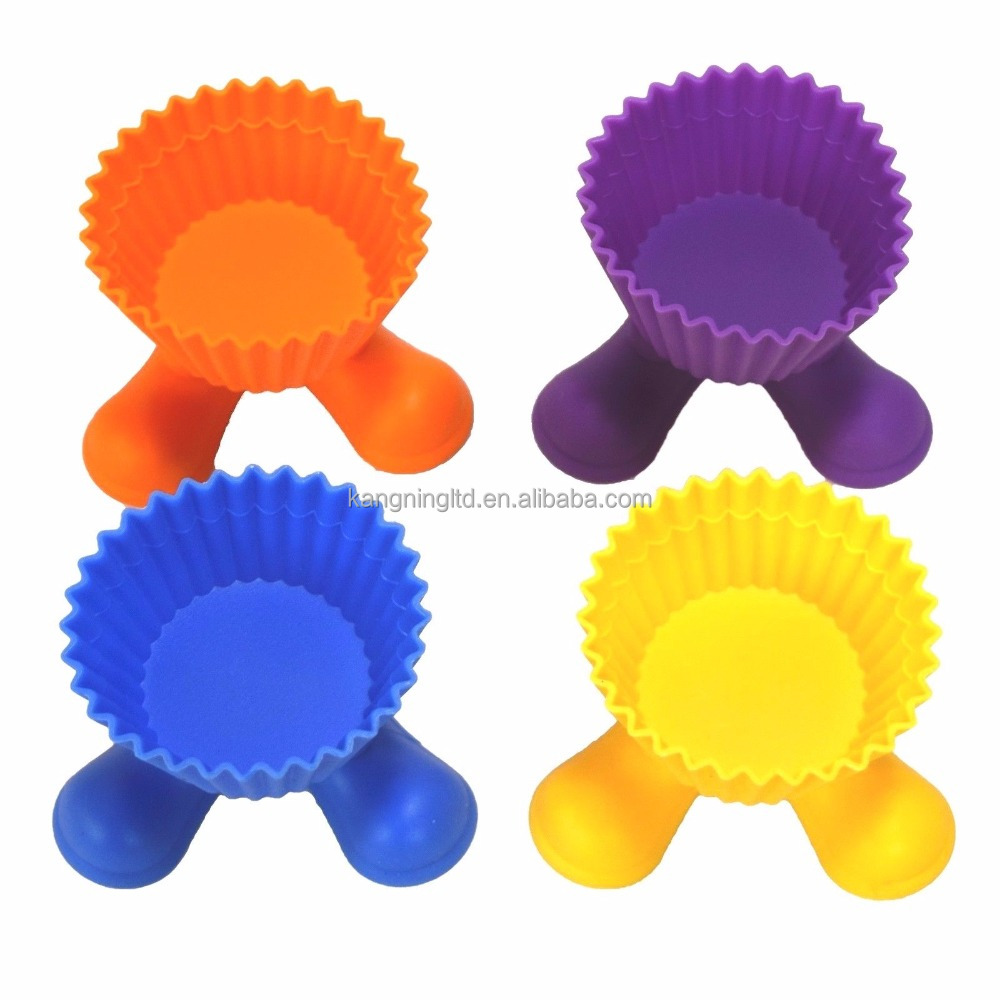 FDA silicone Cupcake Individual Silly Feet Baking Cup Mold