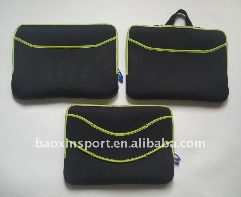 neoprene laptop with hidden handle