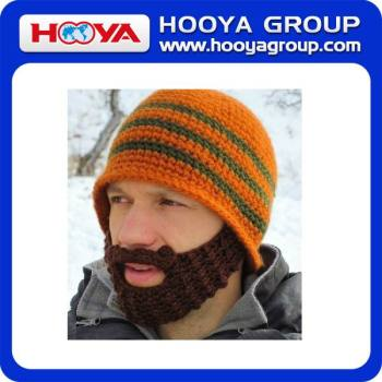 Fashion Funny Knitted Men's Winter Ski Face Mask Beard Hat