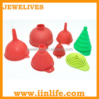 silicone funnel,kitchen funnel set,food grae silicone funnel