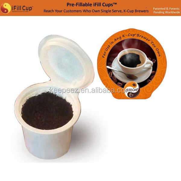 iFill Cups press to airtight. empty coffee keurig k-cups/keurig coffee capsule