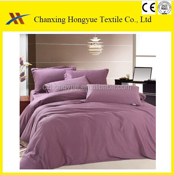 Changxing Polyester brushed microfiber peach skin fabric solid color for home textile,bedding cover and bed sheets
