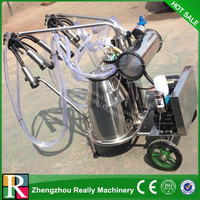Vacuum pump milking machine for cow/goat/camel