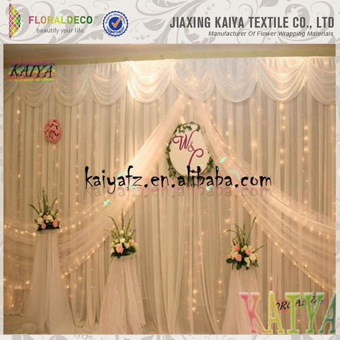 10ft *16ft stage decoration organza wedding backdrop curtain