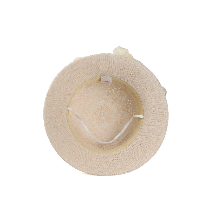 Lady Beach Straw Hat Wholesale Wide Brim Flower China Factory Straw Hat For Women