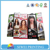 2016 matte lamination custom hair extension packaging, folding drawer paper hair extension packaging box