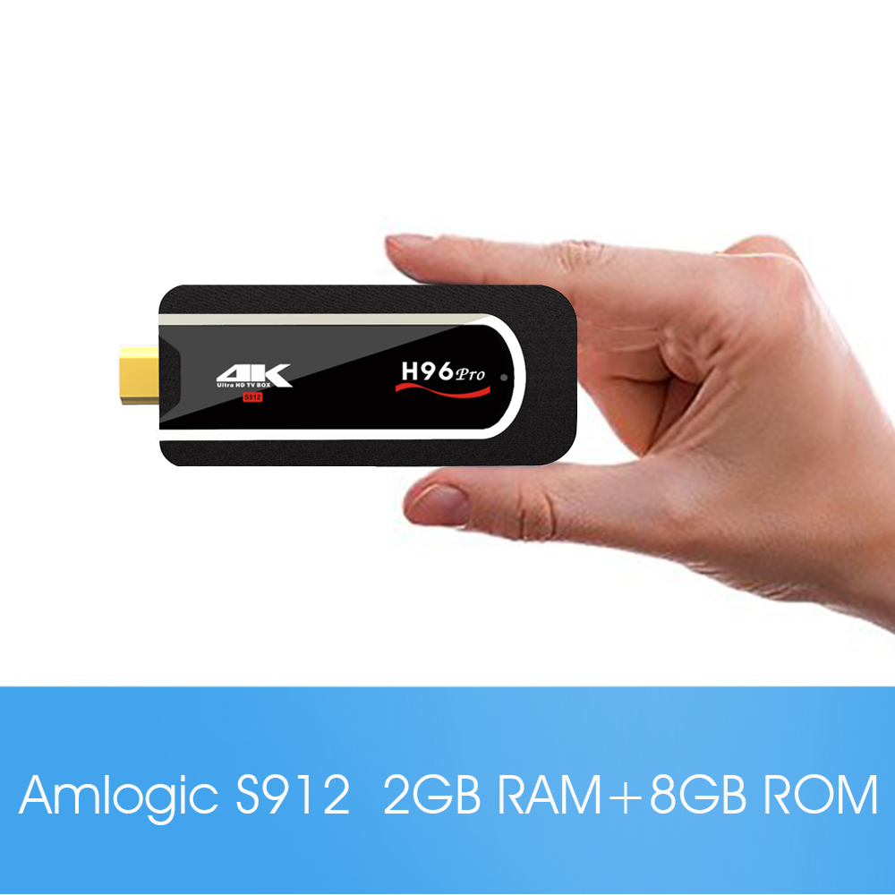 H96 Pro Mini PC Android 7.1.1 Amlogic S912 64bit Octa-core Mini PC H.265 4K Player pc stick