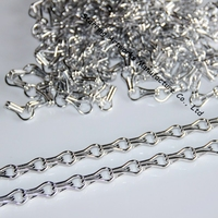Silver Colored Aluminium Double Hooks Hanging Chain Link Fly Screen For Door Curtain