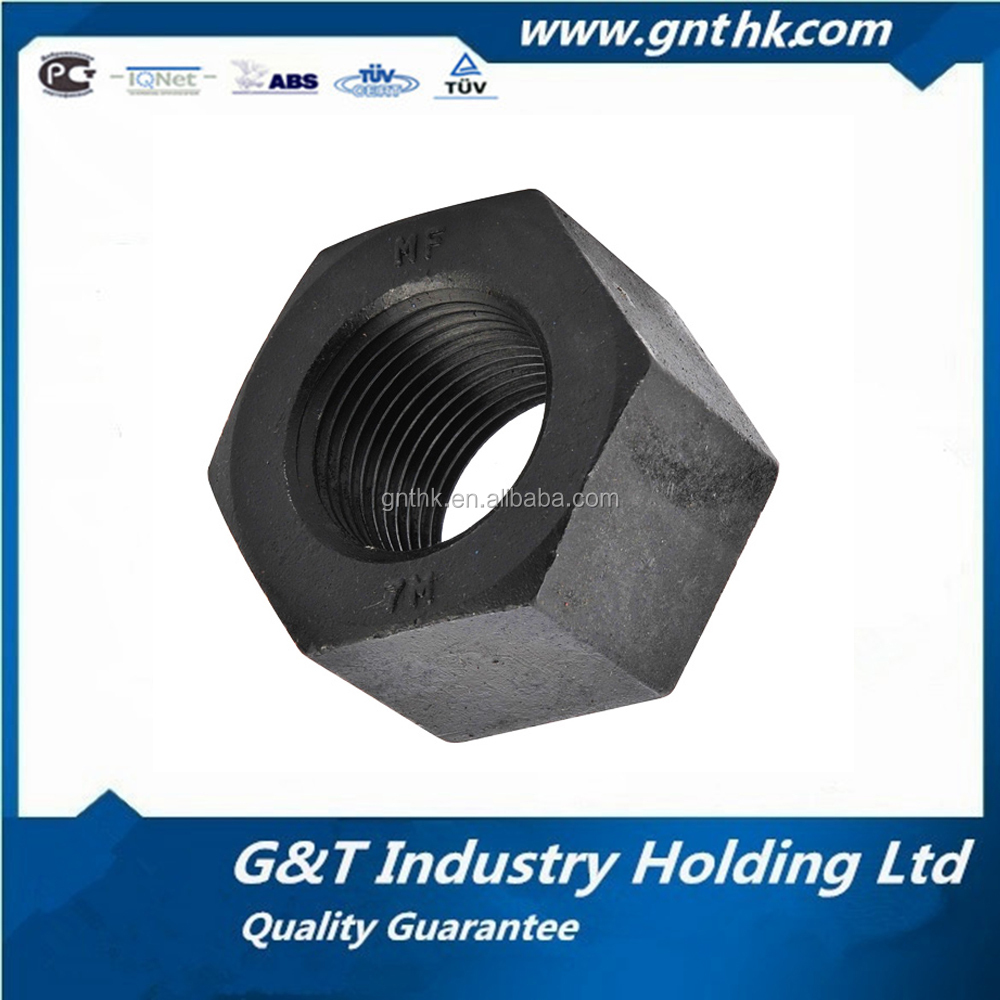 Gold Supplier JIS B 1186 M36 Black Zinc Plating Hexagon Nut