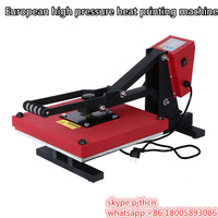 NEW Design High Pressure Heat Printing Press Machine (red)
