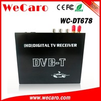 Wecaro WC-DT678 HD mpeg4 car dvb-t DIGITAL TV receiver box with dual tuner for Spain