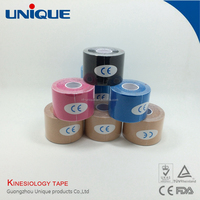 colored kinesiology sports tex tape body muscle by CE FDA ISO certification