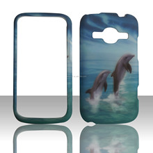 Hot !!! Blue dolphin water transfer printing case for ZTE z730