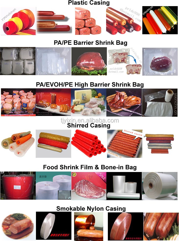 Transparent shrink vacuum bag for Raw Meat or ham