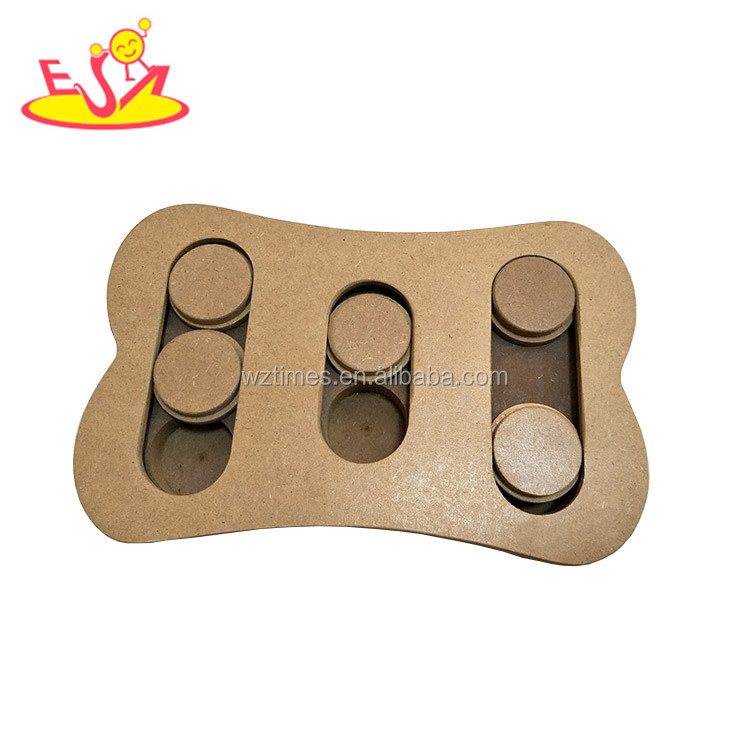 Wholesale specially design pet training treats wooden dog puzzle toys best pet interactive seek wooden dog puzzle toys W06F034