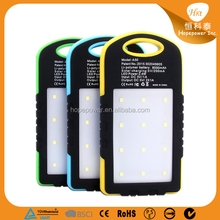 New general style waterproof solar power bank' 8000mah with LED