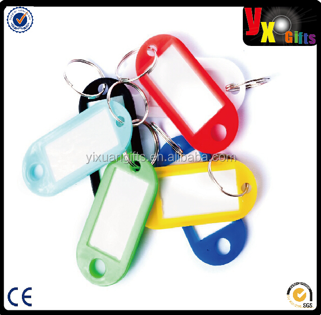 Colorful Key ID Label Tags Split Ring Keyring Keychain