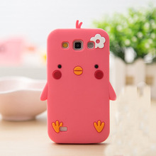 3D Soft Silicon Phone Case Cover for Samsung Galaxy i8552 Cute Chick