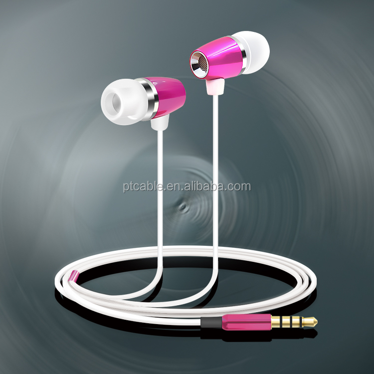 Earphone with Case Moving Coil Metal Earbuds Wired Stereo Headphone for Mobile Phone Accessories