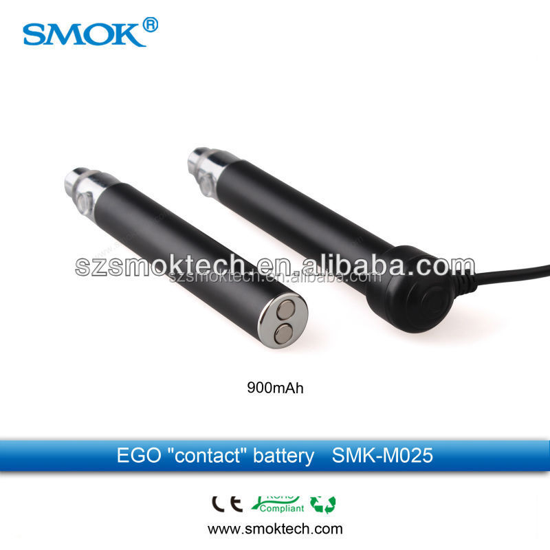 Top quality auto rechargeable battery ego 900mah, smoktech contact/magneto 900mah battery