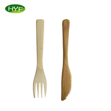 Small Dentate Cheese/Cake/Fruit Bamboo Fork Knife Spoon