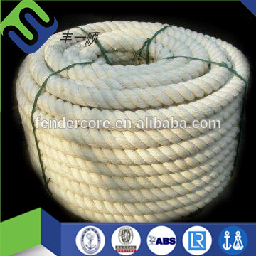 Natural white 3 strand twisted cotton ropes