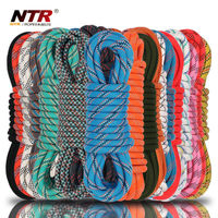 polypropylene and black braided nylon rope