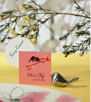 New design love bird silver cute small wedding place card holders, wedding gift,wedding favor DHL Freeshipping