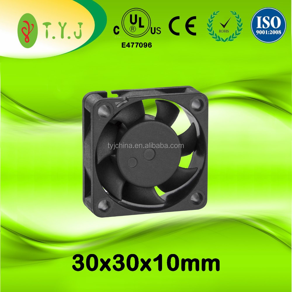 12v 30x30x10mm dc brushless mini cooling fans