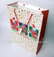red metallic paper gift bags
