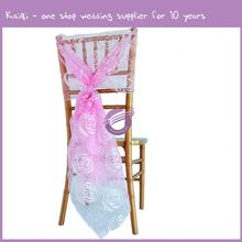 #My0004t Wholesale cheap organza party chair covers / banquet chair sashs