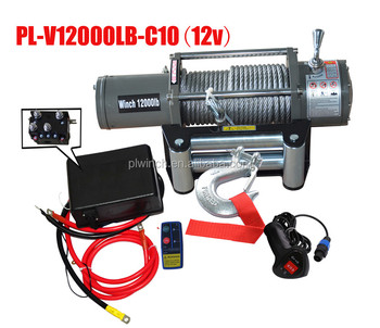 Electric Winch 12000lbs steel cable winch with CE