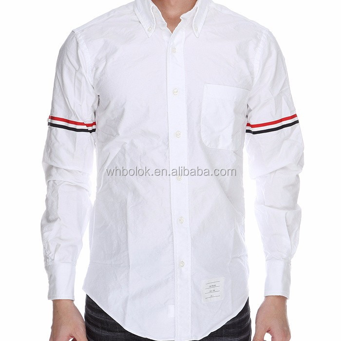 Custom made men oxford shirts long sleeve fashion style cotton white shirt